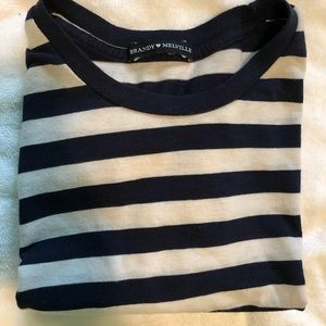 Stripped cropped Brandy Melville shirt